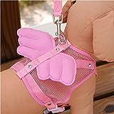 Cutepet Atmungsaktives Hundegeschirr Für Alle Alltäglichen und Sportlichen Aktivitäten Für Kleine Mittlere Große Hunde,Pink,L