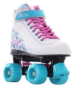 SFR - Rollers quad/patins à roulettes Vision II - blanc/bleu - taille 29