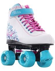 SFR - Rollers quad/patins à roulettes Vision II - blanc/bleu