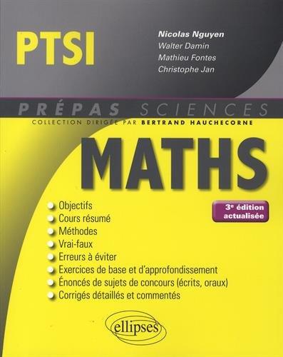 Mathématiques PTSI - 3e édition actualisée par Nicolas Nguyen