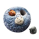 IFOYO Squeak Dog Toys, Large Durable Hide and Seek Puzzle Plush Interactive Dog Toys for Large Medium Small Dogs, Pets, Christmas Dog Toy, Grey