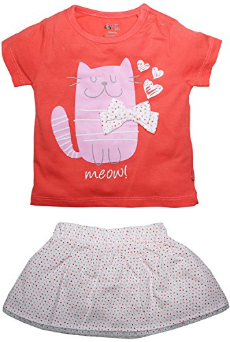 FS Mini Klub Baby Girls Cotton Top and Skirt Set - (3-6 Months)  available at amazon for Rs.259