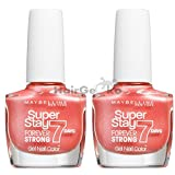 Maybelline Jade Forever Strong Finish Nagellack 401 PEACH 2x 10ml =20ml