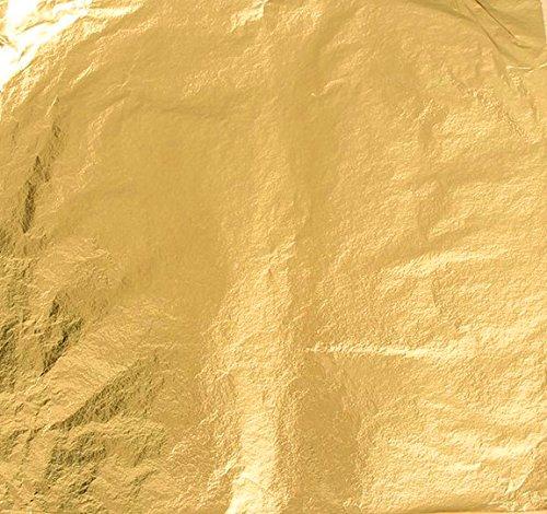 Blattgold Schlagmetall 100 Blatt - Format 16 x 16 cm (Imit.) - von Magic-Elefant in Farbe GOLD