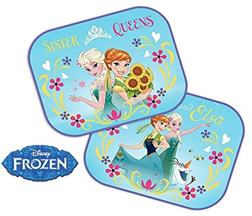 Disney Frozen : 2 x Auto Sonnenschutz / Vorhänge / Seitenscheibe / Sonnenblende inklusive UV Schutz für Baby und Kind