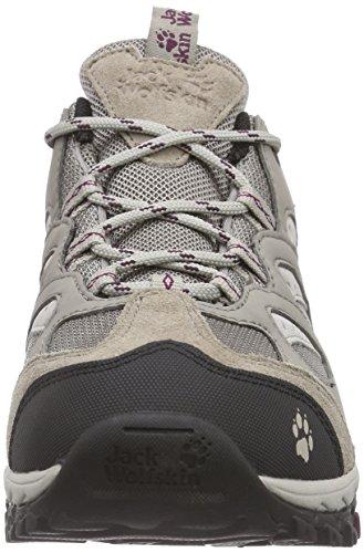 Jack Wolfskin Mtn Storm Texapore Low W, Chaussures de Randonnée Basses Femme Beige (wild Berry 1014)