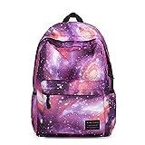 Kuriertasche, Wasserdichte Laptoptasche Galaxy Lila, Blau Mode Neutral Leinwand Schultasche Schulrucksack Mädchen Jungen Rucksack College Bag ( Color : Purple )