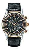 GROVANA 1728.9557 Men's Quartz Swiss Watch with Black Dial Chronograph Display and Black Leather Strap