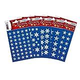 Herma 15501 Sterne Aufkleber Weihnachten silber, 378 Sticker in 5 verschiedenen Formaten, Weihnachtssticker Deko silbern glänzend
