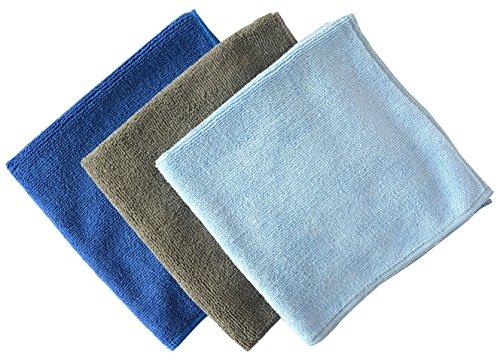 Sinland mikrofaser reinigungstücher auto trocknen polieren auch ideal für fenster reinigen 3 Stück 40cm x 40cm Mischfarben