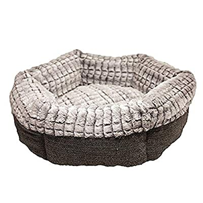 Rosewood 40 Winks Tweed/Plush Bed, 19 Inch by Rosewood