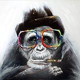 Smoking Monkey – Witziges Tierbild – Martin Klein – Handgemalt - Moderne Kunst - Künstler Signiert - Affenbild