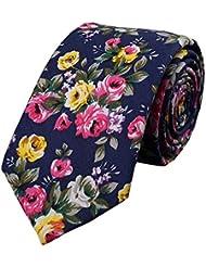 Mode Coton Affaires Skinny Cravate Cravate Fleurs