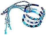 MADE IN ZEN Lot de 3 Bracelet brésilien Amitié Coton Friendship Coton Macramé Porte Bonheur Homme Femme Fille garçon Blanc Bleu Noir