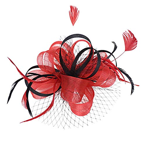 70abc5547f27ad Xmiral Damen Stirnband Mode Hochzeit Maschendraht Penny Bänder Und Federn  Abend Bar Party Haar.