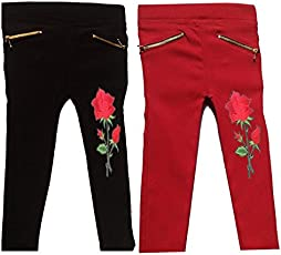 RZ lecort Party WEAR & Casual Jegging for 1-2 Year Baby Girl (Pack of-2)