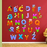 StickMe 'Alphabets For Kids Wall Sticker'- SM 077 ( PVC Vinyl - 100cm X 100 Cm )