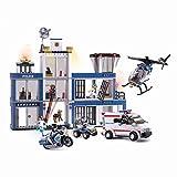 Funstones Baustein Bausteine XXL Set Polizei Station Police Station + Fahrzeuge + Figuren