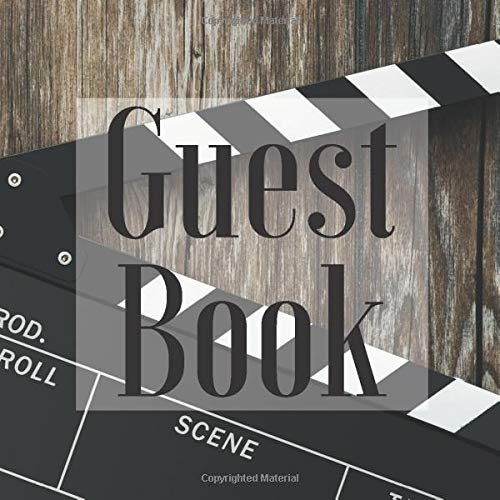 llywood Film Theme - Signing Guestbook Gift Log Photo Space Book for Birthday Party Celebration Anniversary Baby Bridal Shower ... Keepsake to Write Special Memories In ()