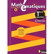 Mathématiques Tle Bac pro : Groupement A, programme 2011