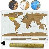 Amazy mapa del mundo para rascar XXL – un bonito recuerdo de viaje para todos esos trotamundos (blanco |82 x 58 cm)
