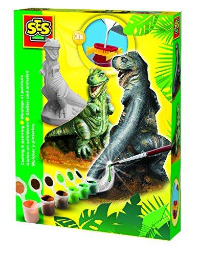 ses-01283-kit-de-loisirs-creatifs-moulage-en-platre-t-rex