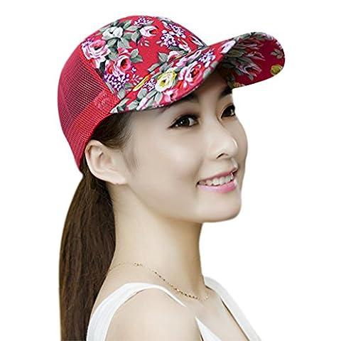 Women Ladies Fashion Baseball Caps Sun Protection Large Visor Mesh Summer Sun Caps Hats Headwear Breathable Outdoor Sports Cycling Camping Fishing Travel Tennis Golf Beach Hats Caps Topee