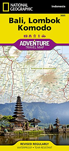 Bali, Lombok, And Komodo: Travel Maps International Adventure Map por National Geographic Maps