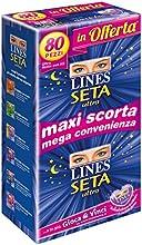 Lines Seta Ultra Quadripack - Compresas ultraabsorbentes, con alas, noche (80 unidades)