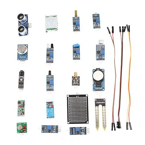 Richer-R Sensormodul 16 in 1 Kit, Raspberry Pi Sensor Ultimate Starter Kit Sensoren und Modulen,Zubehörset Sensor Modul Board Starter Lernset für Raspberry Pi - Infrarot-co2-sensor