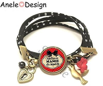 Bracelet liberty Cadeau pour Mamie ! Meilleure MAMIE du monde !