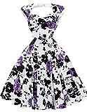 40s 50s 60s retro vintage swing dress blumenkleid festliches Kleid petticoat kleid Größe M BP024-1