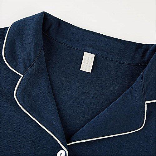 nuovo signore pigiama di cotone a maniche lunghe cardigan a casa l'arredamento del tempo libero completo xl