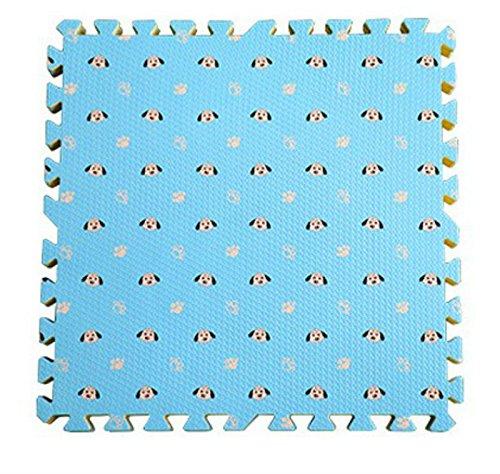 9 Stück Puzzlematten,30x30cm x 1 cm,Spiel-Matten für Kinder Weiche Puzzle Mats EVA-Schaum-Matten , Kinderspielteppich Wasserdicht Rutschfest Spielteppich Puzzle Kinderteppich Gymnastikmatte Trainingsmatte für Kinder und Babys Schlafzimmer Yoga Turnhalle Kinderzimmer Deko geeignet (blau)