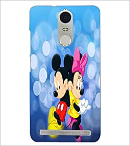PrintDhaba Mickey and Minnie D-3476 Back Case Cover for LENOVO K5 NOTE (Multi-Coloured)