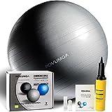 POVUMGA Gymnastikball Fitnessball Sitzball 65cm Maximalbelastbarkeit bis 400kg inclusive Pumpe
