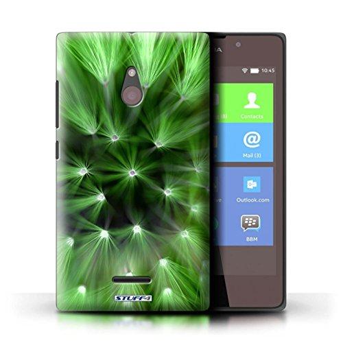Kobalt® Imprimé Etui / Coque pour Nokia XL / Pourpre conception / Série Couleur/Lumière Fleur Vert