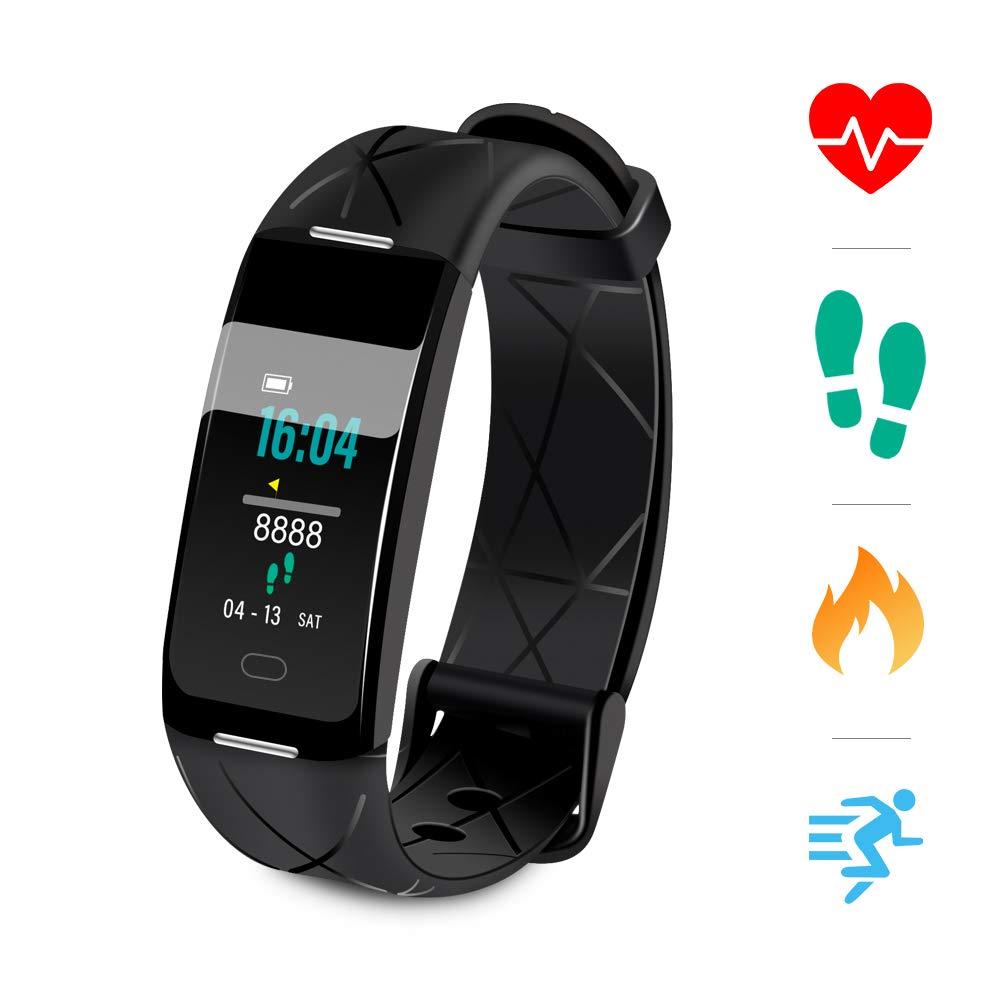 Sonkir Fitness Tracker HR, Reloj de Seguimiento de Actividad con Monitor de frecuencia cardíaca, podómetro, Contador de… 1