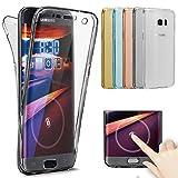 Coque Galaxy S8,Etui Galaxy S8,Galaxy S8 Case,Intégral 360 Degres avant + arrière Full Body Protection Transparente Silicone Gel TPU Souple Housse Etui de Protection Case Coque pour Galaxy S8,Noir