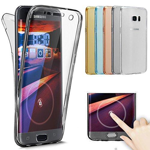 Kompatibel mit Galaxy S8 Hülle Schutzhülle Case,Full-Body 360 Grad Klar Durchsichtige TPU Silikon Hülle Handyhülle Tasche Case Front Back Double Beidseitiger Cover Schutzhülle für Galaxy S8,Schwarz