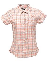 fbc560942 Regatta Great Outdoors Womens Ladies Adventure Tech Tamika Checked Short  Sleeve Shirt