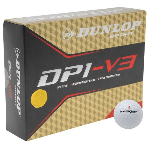 Dunlop Sports Training Accessories Equipment DP1 V3 Golf Field Balls 12 Pack New