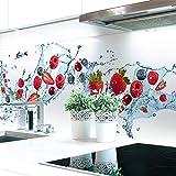 Küchenrückwand Berry Splash Premium Hart-PVC 0,4 mm selbstklebend 340x51cm