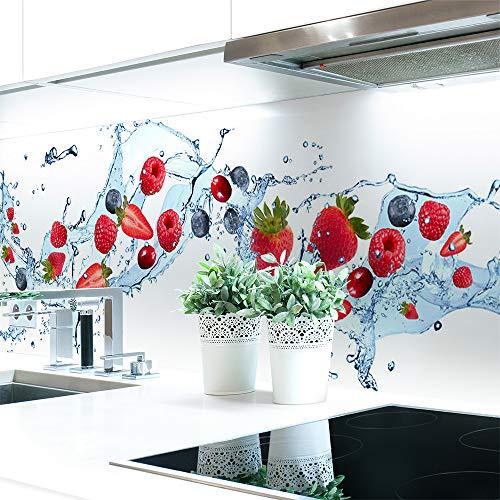 Küchenrückwand Berry Splash Premium Hart-PVC 0,4 mm selbstklebend 60x51cm