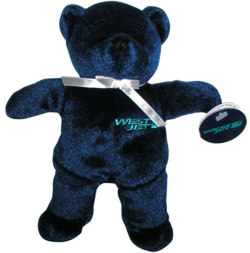 mtb7009-darontoys-westjet-airlines-blue-teddy-bear-toy-by-daron-by-daron