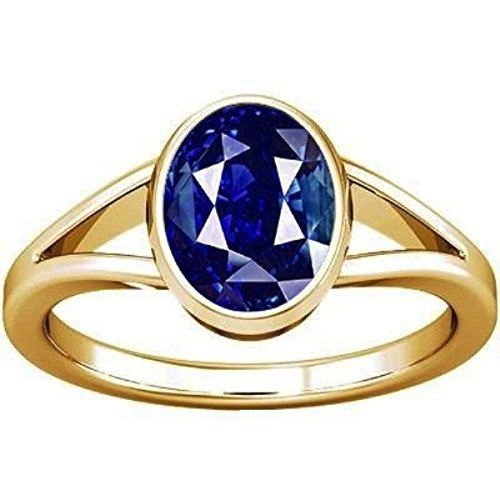 Divya Shakti 7.25-7.50 Carat Blue Sapphire Stone Ring (Nilam/Neelam Stone Panchadhatu Ring) 100% Original AAA Quality Gemstone