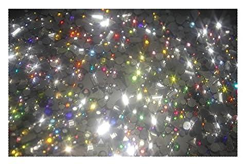 super Mélange de Strass Hotfix MULTICOLOR 160 tailles couleurs et formes... - Vetro Abbellimenti
