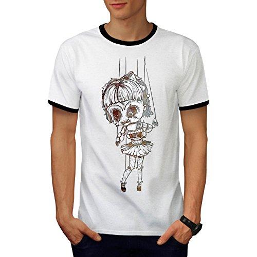Undead Marionette Gruselig Puppe Herren M Ringer T-shirt | Wellcoda