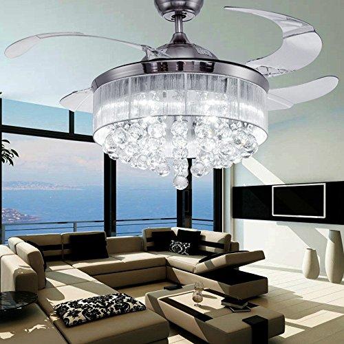 colorled-cristallo-argento-disegno-a-scomparsa-ventilatore-da-soffitto-per-soggiorno-camera-da-letto