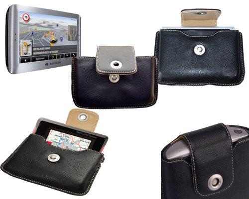 Spartechnik Case Navigon: Ledertasche für Navigon Straßen GPS der Serien TS 7000, 7110, 8310, 8110, 8450 Live 8410 & 70 Premium Easy Plus. Siehe Beschreibung 8410 Serie